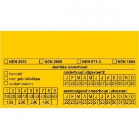 FT15 Onderhoudssticker (ook leverbaar met eigen naam / logo op aanvraag)