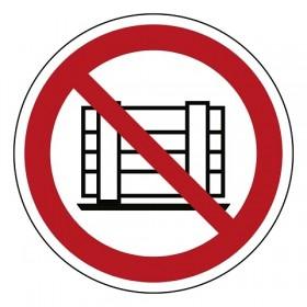 P023 Neerzetten of opslaan verboden