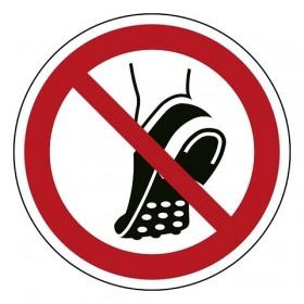 P035 Geen schoenen met metalen noppen dragen