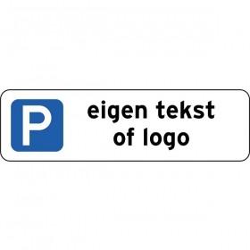 P Eigen tekst of logo