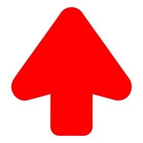 Pijl rood + vloerlaminaat (antislip)
