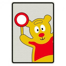 Traffic Teddy bord met eigen tekst