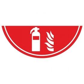 Vloermarkering brandblusser 75x30 cm NALICHTEND / antislip