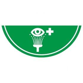Vloermarkering oogdouche 75x30 cm NALICHTEND / antislip
