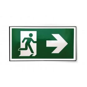 Vluchtweg rechts design