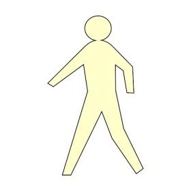 Vloermarkering voetganger 50x30 cm NALICHTEND / antislip