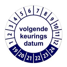 921 Volgende keuringsdatum blauw