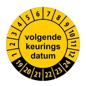 922 Volgende keuringsdatum geel